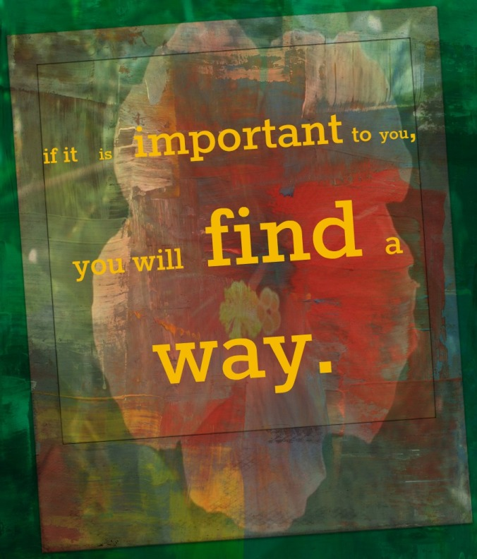 if it is important to you